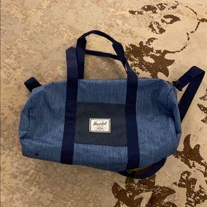 Men's Herschel chambray gym bag